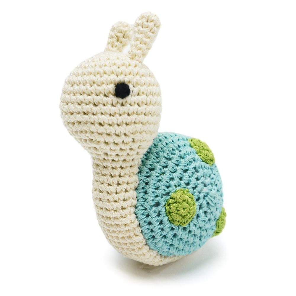 Snail Organic Crochet Squeaky Toy