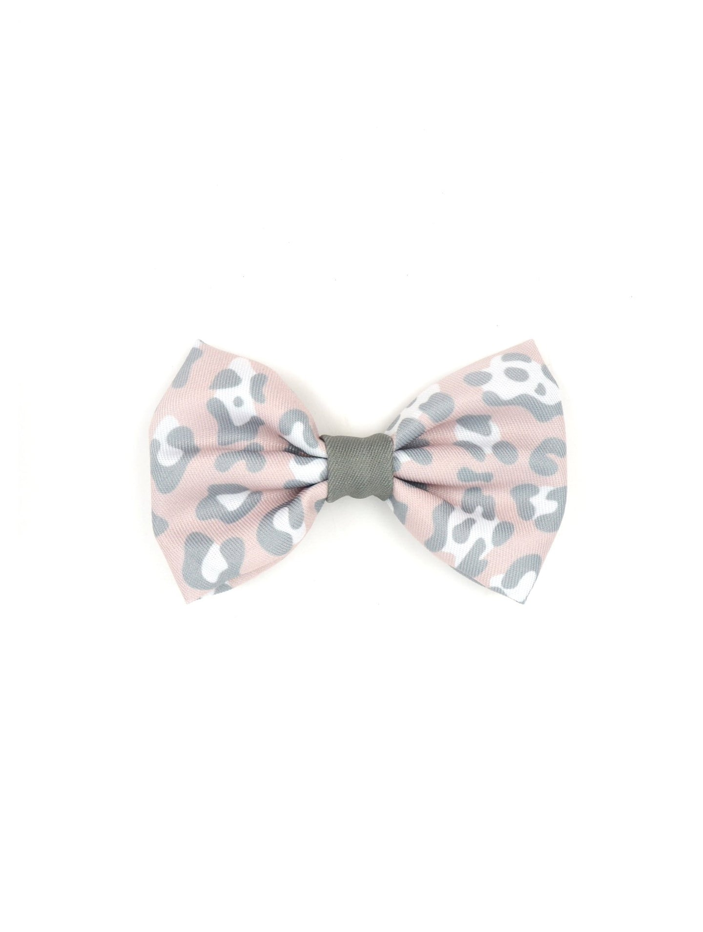 Blush Leopard Bow