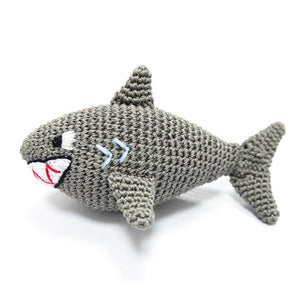 Shark Organic Crochet Squeaky Toy