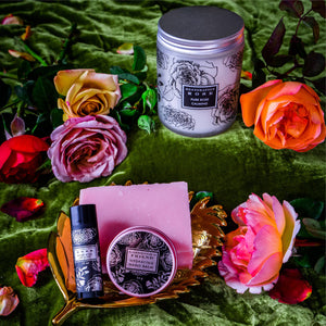 Rose infused gift set collections.