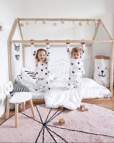 beautiful scandi style nursery - 5 reasons why you should go for scandi nursery - house bed. Otis and the Wolf - get the scandi look for your little one for less