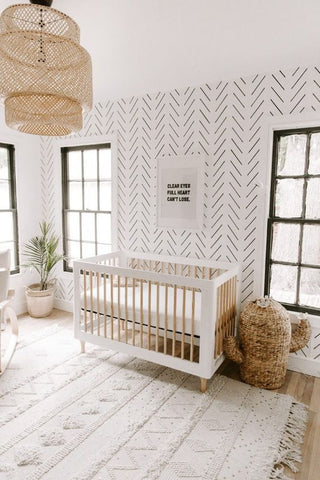 beautiful scandi style nursery - 5 reasons why you should go for scandi nursery. Otis and the Wolf - get the scandi look for your little one for less