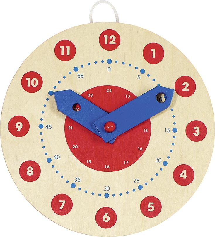 Clock - learn to tell the time through play. Wooden 24hr clock from Goki. Otis and the Wolf - bringing you Scandi style for little ones