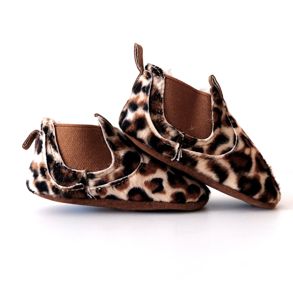 Leopard print baby shoes | Otis and the Wolf | Scandi Style for babies, children and the modern nursery