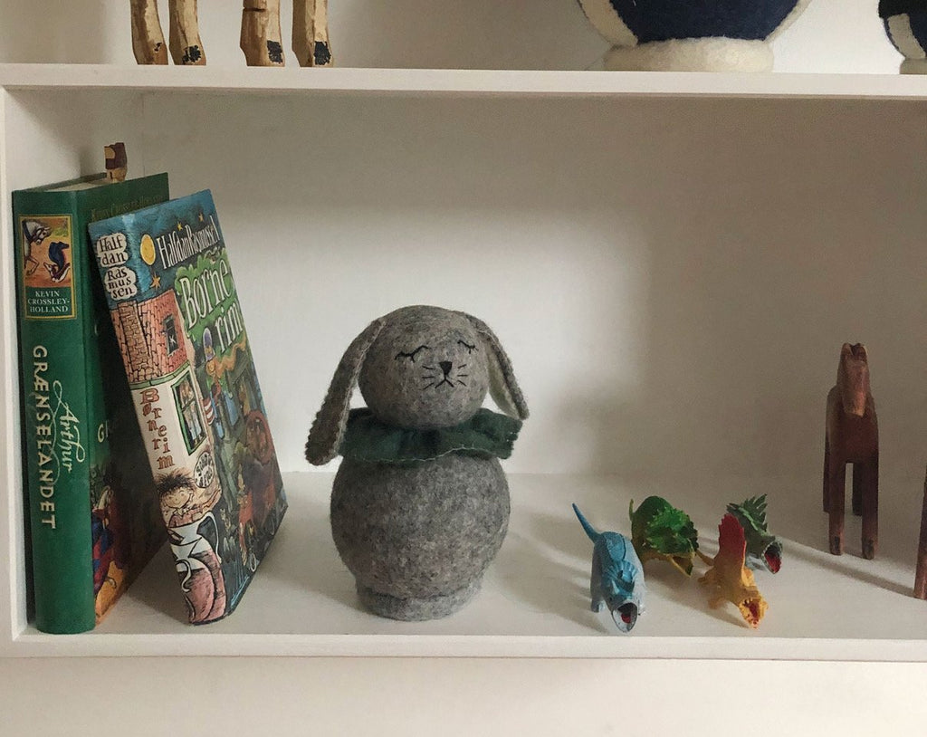 Gamcha Rabbit, dusty green. Otis and The Wolf - Scandinavian inspired design, toys and clothing for mamma, babies, toddlers, children and the modern nursery