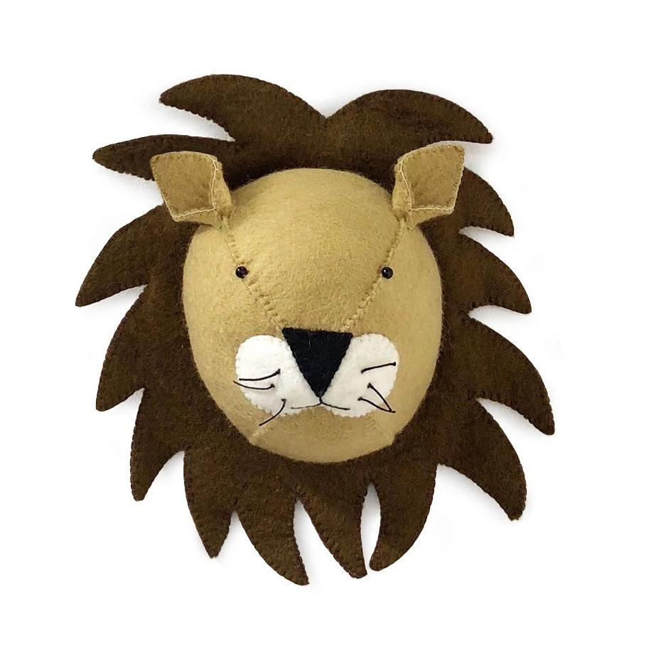 Gamcha Lion animal wall mount. Otis and The Wolf - Scandinavian inspired design, toys and clothing for mamma, babies, toddlers, children and the modern nursery