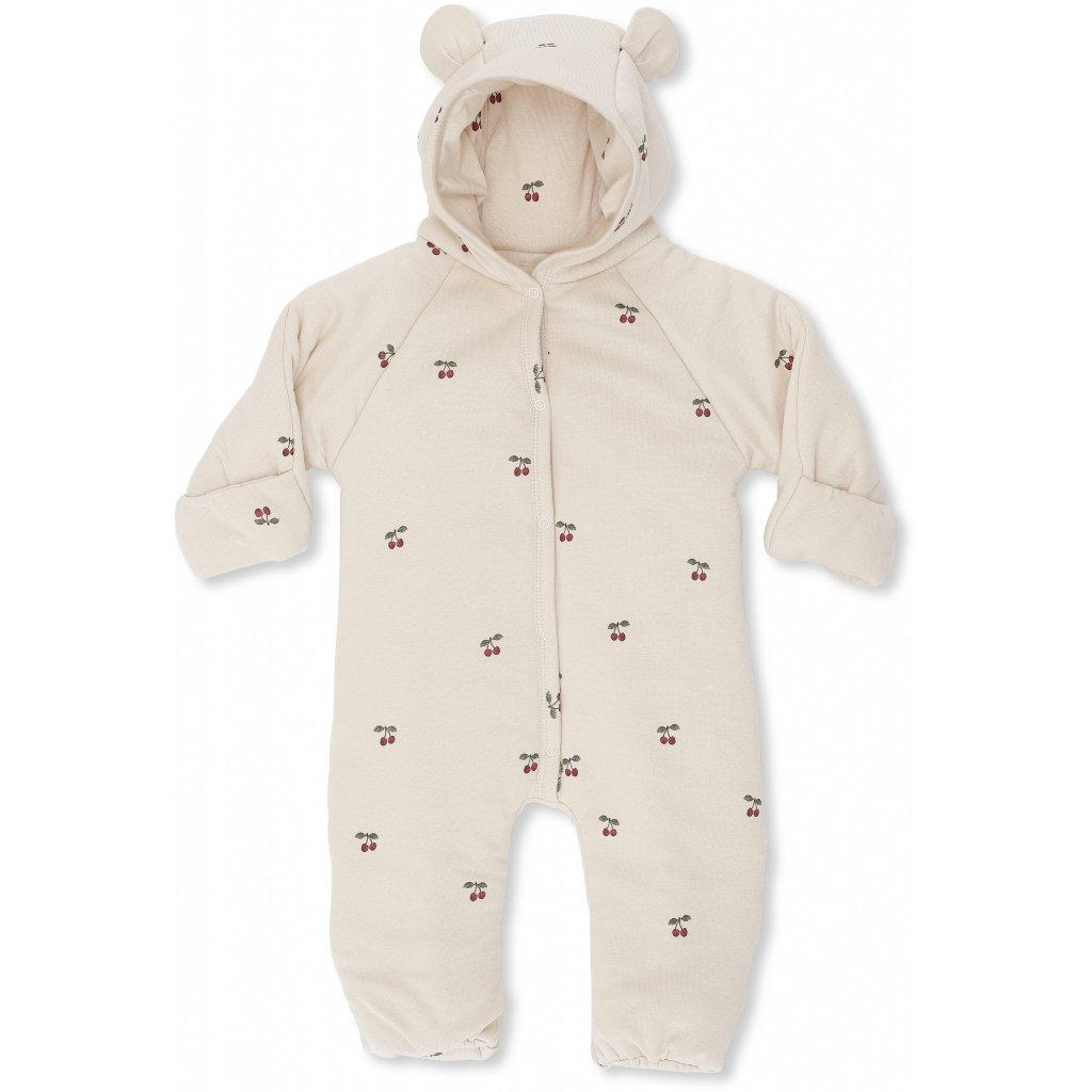 Onesie With Hood - Cherry