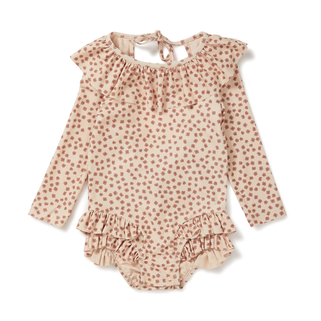 Manuca Long Sleeve Swimsuit - Buttercup Rosa