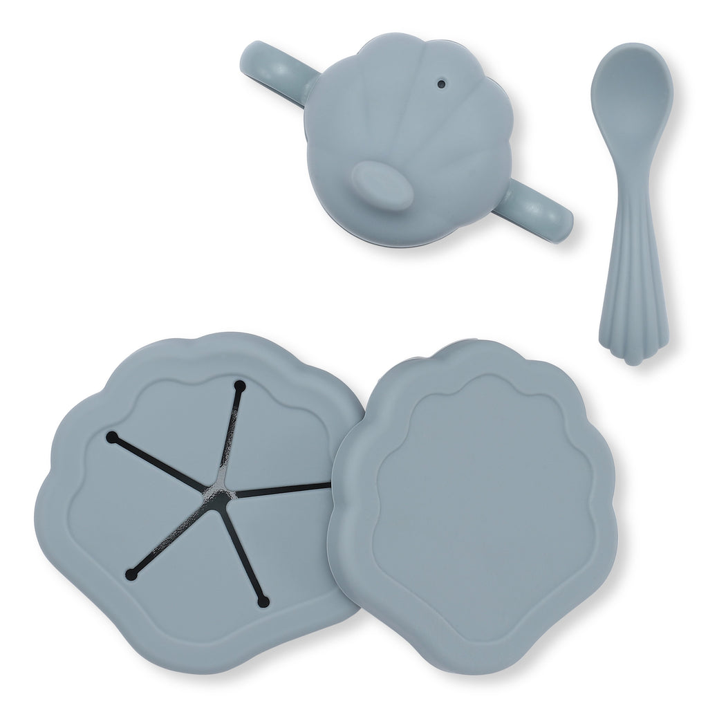 Silicone Clam Dinner Set - Many Colours