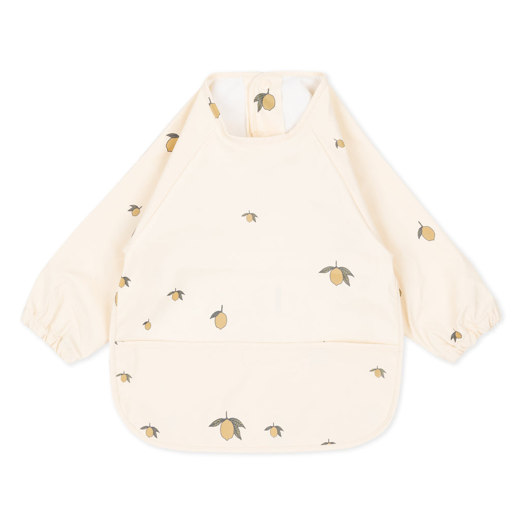 Dinner Bib Long Sleeve - Lemon