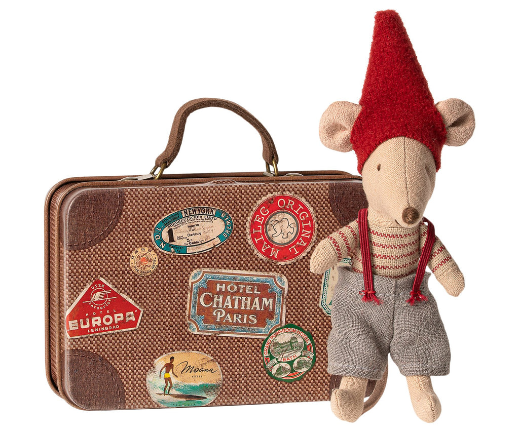 Christmas mouse in a suitcase from Danish Brand Maileg - A cute festive stocking filler for a child this Christmas. Otis and the Wolf - bringing you Scandi style for little ones