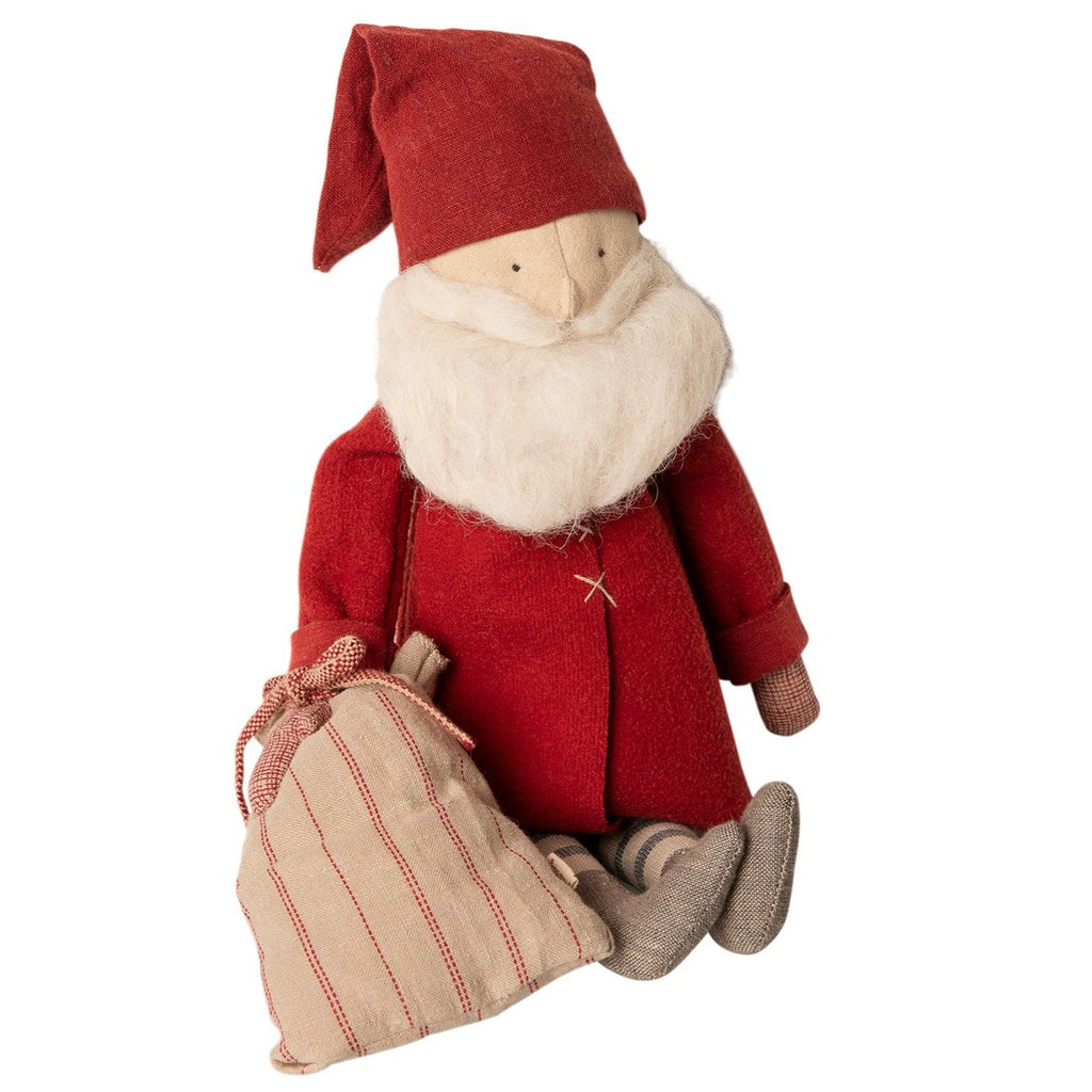winter friends - santa from maileg. this festive scandi christmas decoration will look beautful in your home this christmas. Why not fill his sack with treats for christmas morning