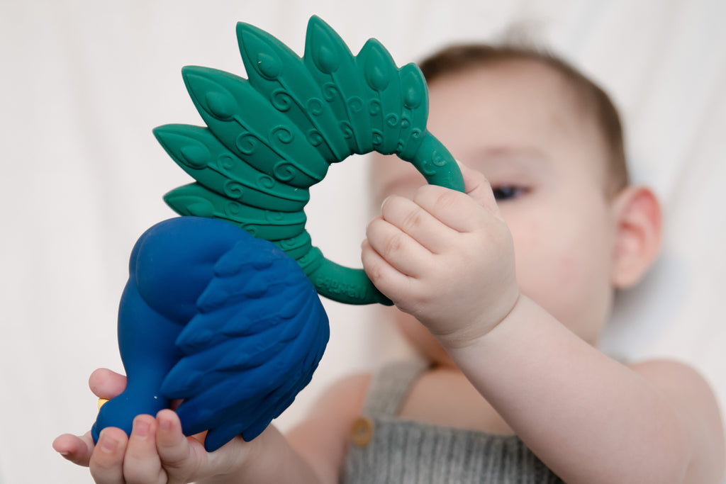 Peacock Teether - Blue