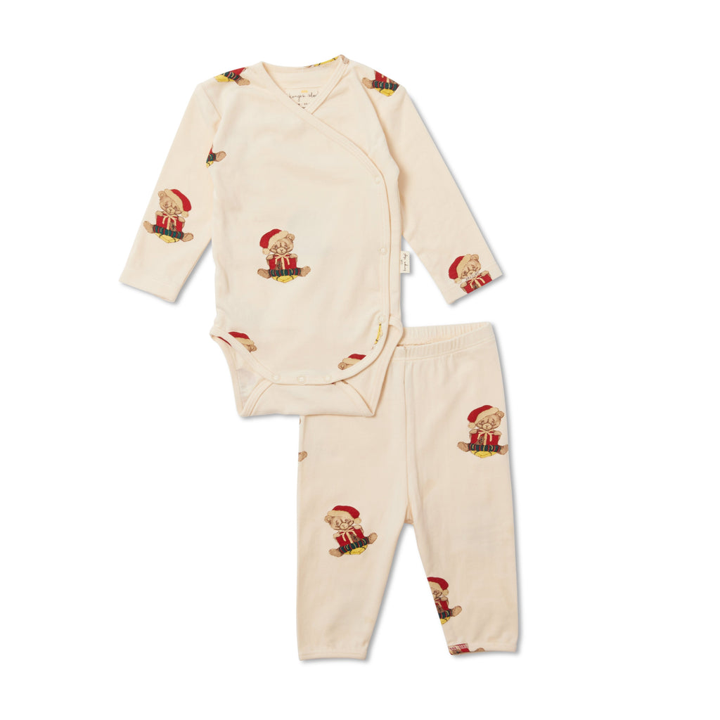 Christmas Teddy - Newborn Pyjamas
