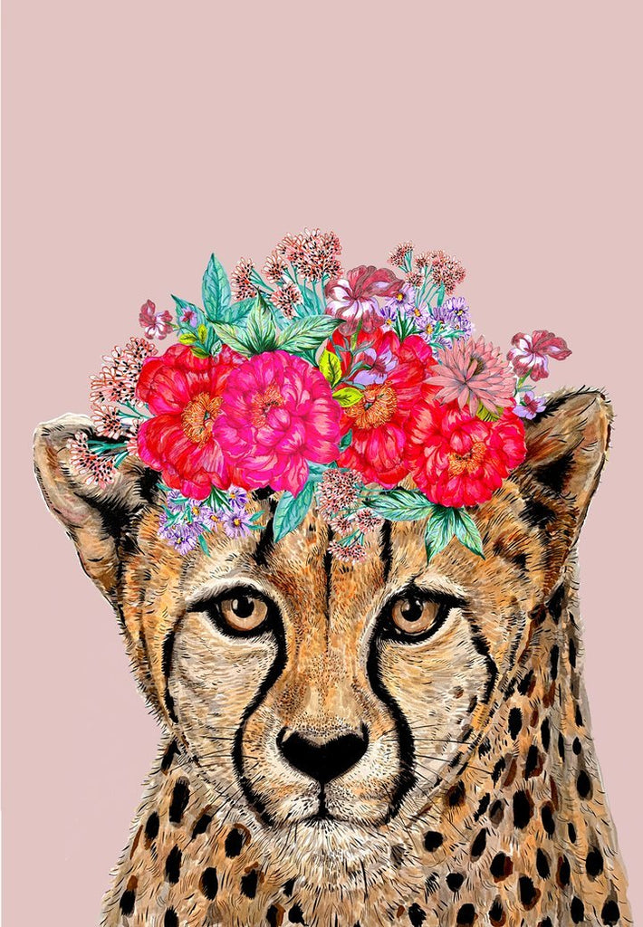 Cheetah Floral Headdress - Card