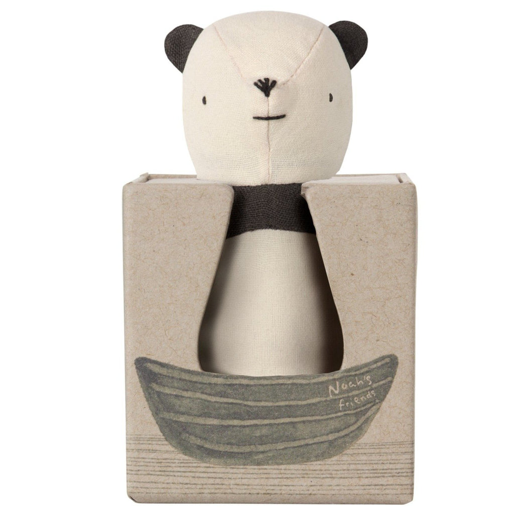 Noah's Friends Soft Panda Rattle from Danish children's brand Maileg. Made from the softest linen. Otis and the Wolf - bringing you Scandi style for little ones