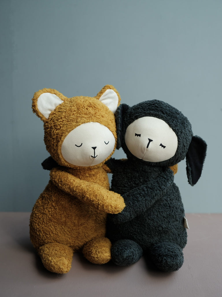 Big Buddy Bear and Big Buddy Black Sheep - the softest and most lovable big scandi soft toys for the special little ones. Danish designed and made from the highest quality organic cotton. Otis and the Wolf - bringing you Scandi style for little ones and the modern home