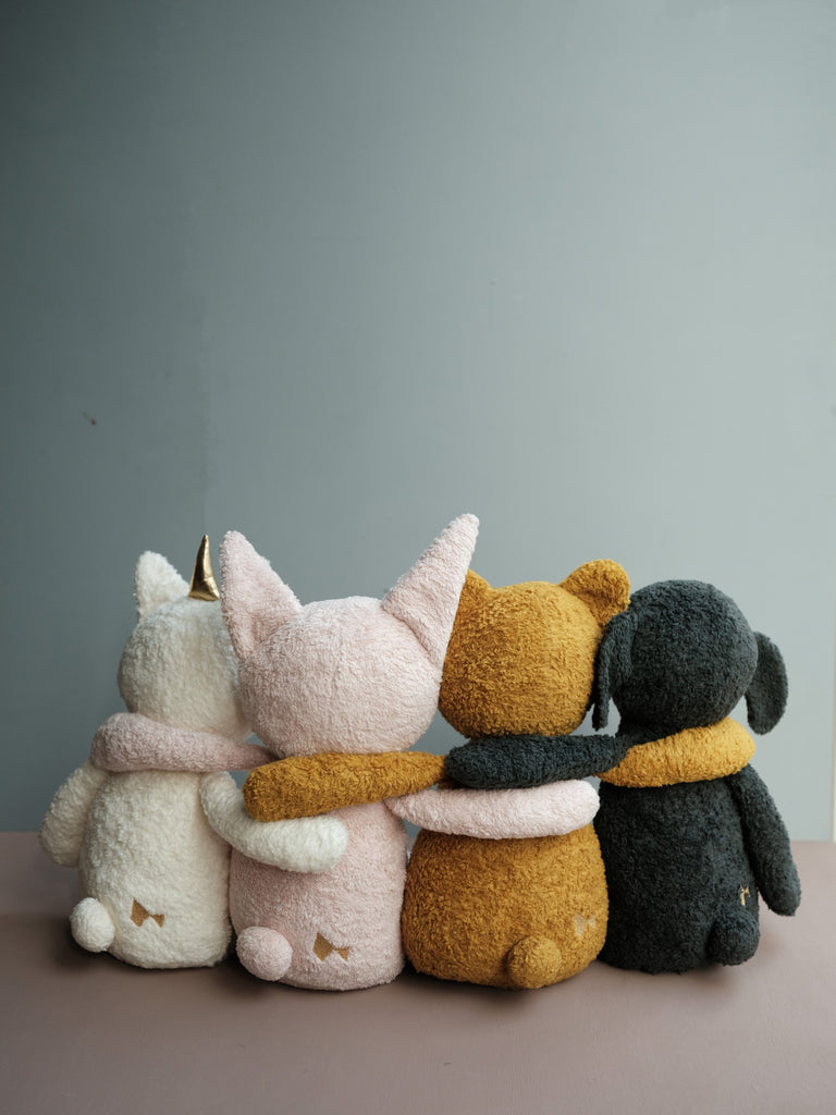 Buddy Bear Pack - the cutest pack of big buddy friends for special little ones. Scandi designed big soft toys made from organic cotton from Danish children's brand Fabelab. Otis and the Wolf - bringing you Scandi style for little ones and the modern home