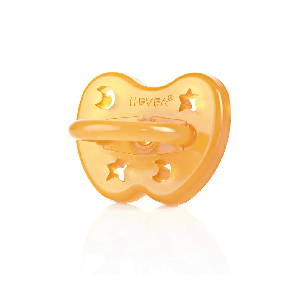 Hevea Natural rubber Orthopaedic dummy pacifier with stars and moons 0-3 months. Otis and The Wolf - Scandinavian inspired design, toys, clothing and essentials for babies, children and the modern nursery