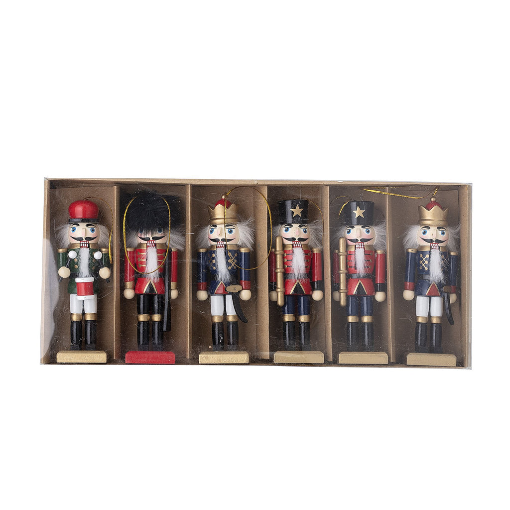 Danish designed Nutracker christmas tree decorations from Danish brand Bloomingville. Few items can fill your home with Christmas magic quite like these traditional nutcracker decorations.