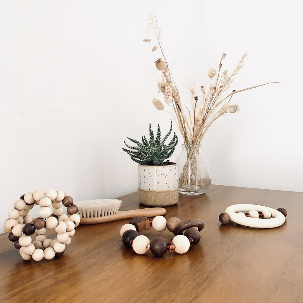 Natural Wooden Ball Baby Toy - Heimess - Nature Range - Otis and the Wolf - Scandi style for little ones from toys and clothing to nursery decor and baby essentials