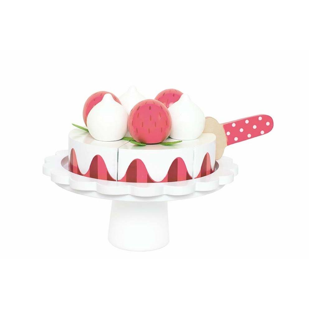 Strawberry Cake With Cake Stand