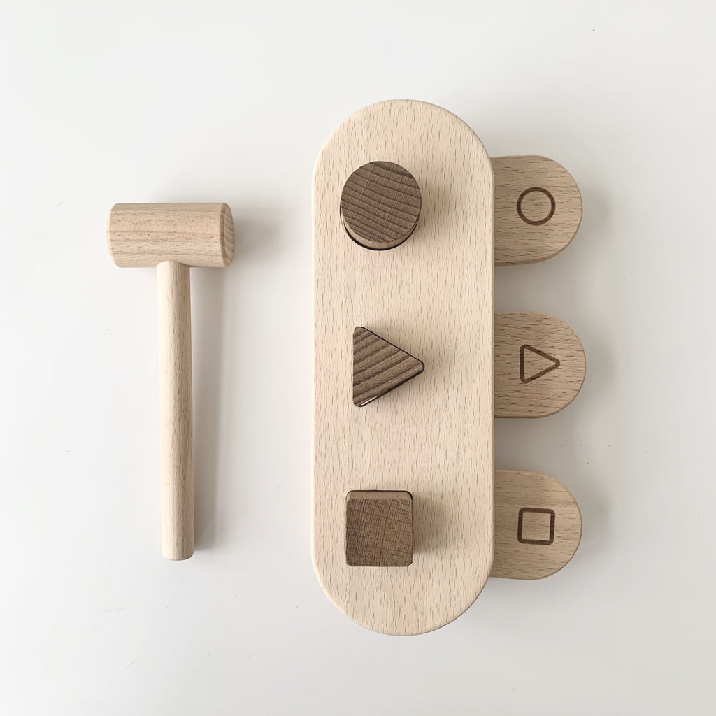 wooden hammer bench from goki nature. a beautiful wooden  toy made from sustainable untreated wood. otis and the wolf - bringing you scandi style for little ones