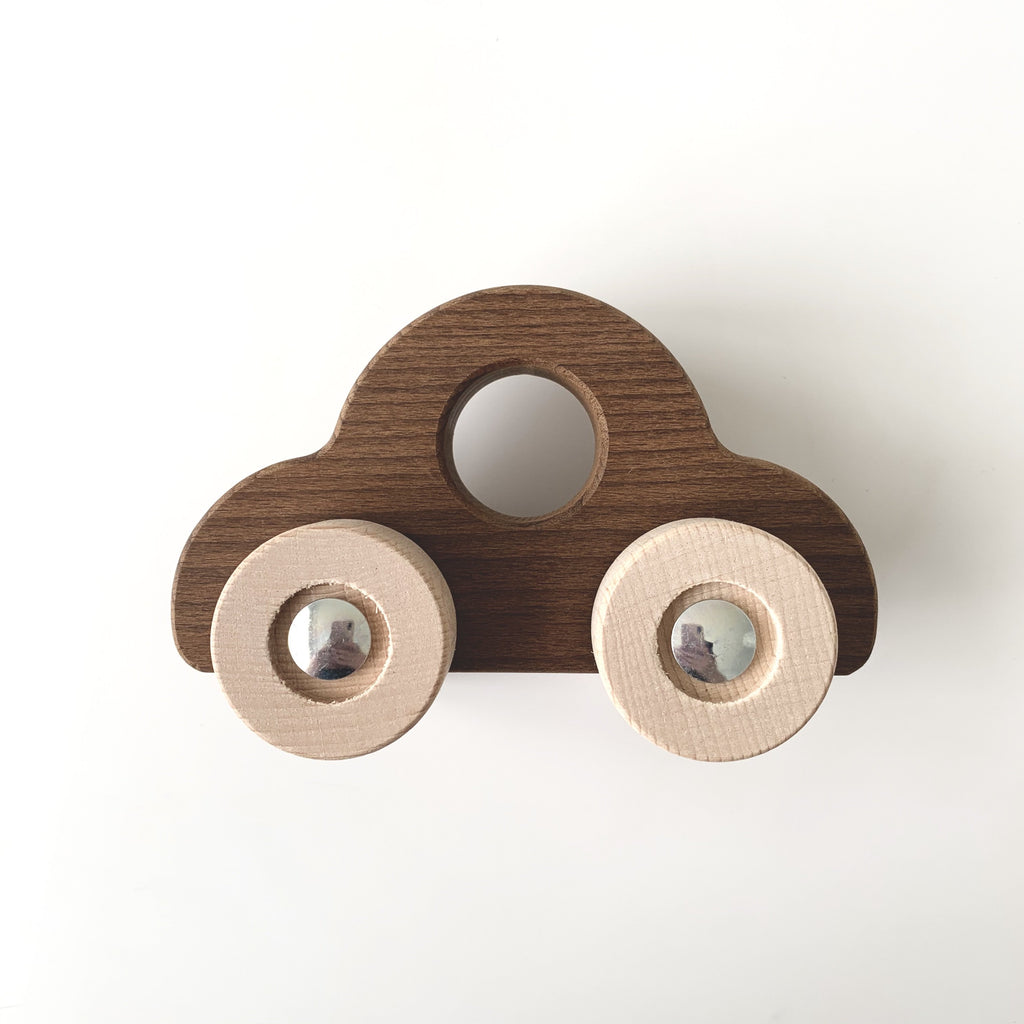 Wooden Toy Car from Goki Nature range. Made from untreated sustainable wood. Beautiful children's wooden toy. Otis and the Wolf bringing you scandi style for little ones and their nursery