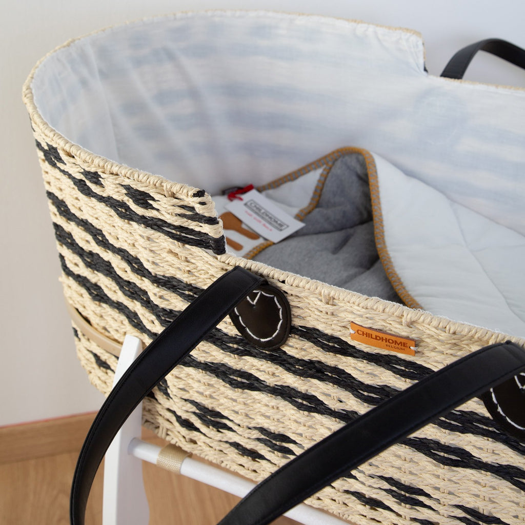 Moses basket - Natural/Anthracite