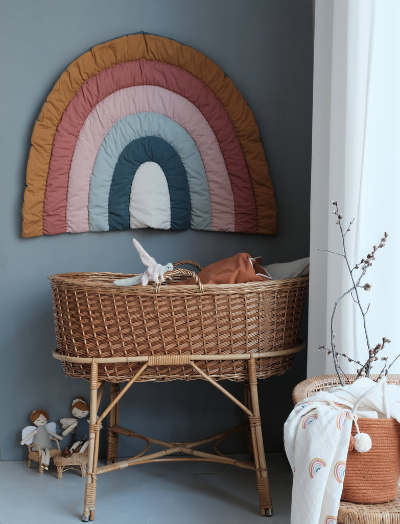 Rainbow Blanket from Fabelab - Otis and the Wolf bringing you scandi style for babies and children from decor and toys to clothing and baby essentials