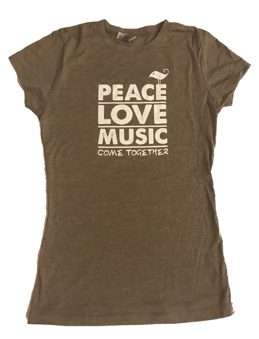 Peace, Love, Music Women's T-Shirt