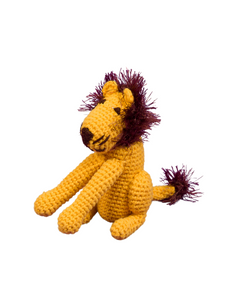 Leo the Lion Organic Crochet Squeaky Toy