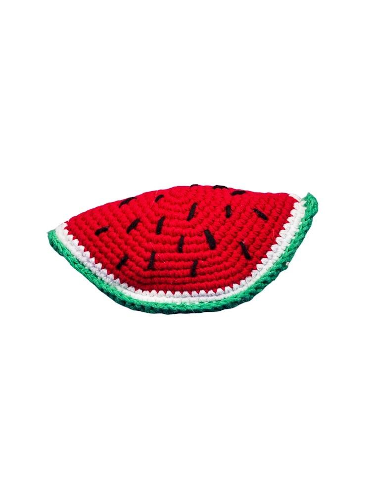Watermelon Organic Crochet Squeaky Toy