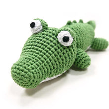 Alligator Organic Crochet Squeaky Toy