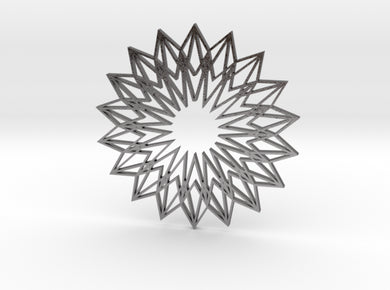 Arabesque: Sunflower 3d printed