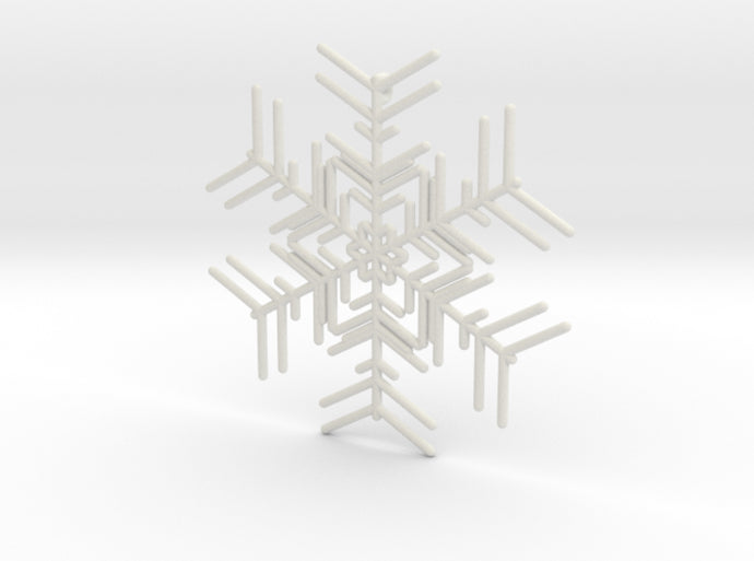 Snowflakes Series I: No. 2 3d printed