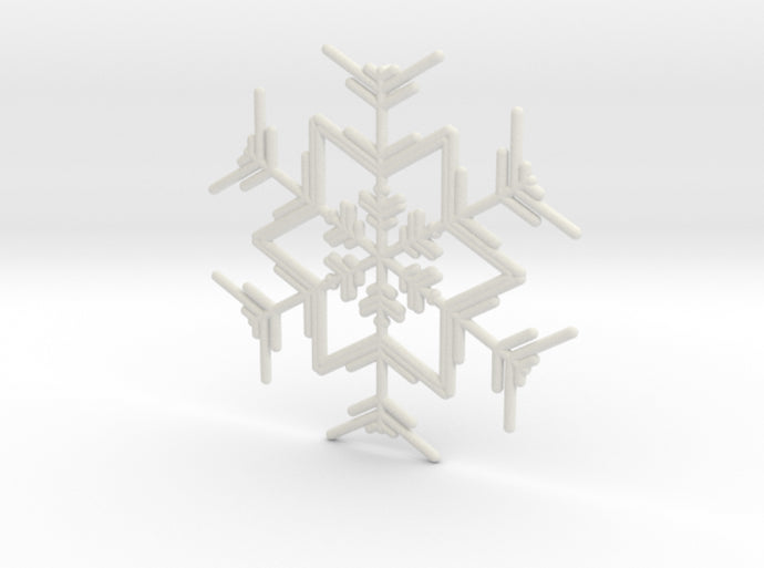 Snowflakes Series I: No. 4 3d printed