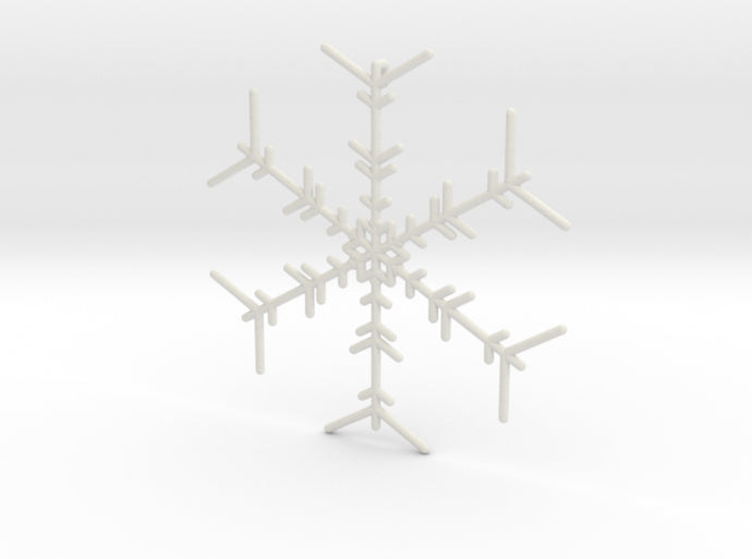 Snowflakes Series I: No. 6 3d printed