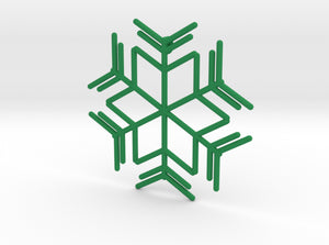 Snowflakes Series I: No. 8 3d printed
