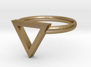 Sapphic: Pink Triangle ring size 8 3d printed