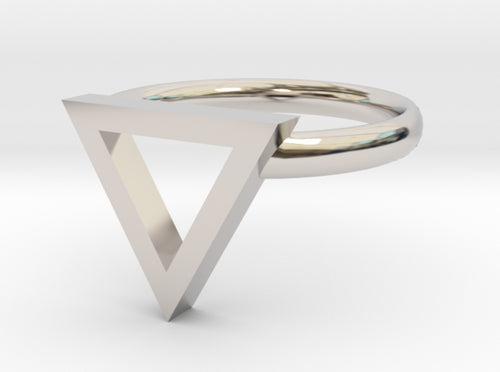 Sapphic: Pink Triangle ring size 7 3d printed