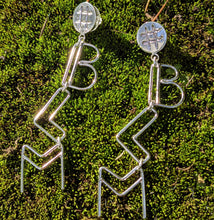 Load image into Gallery viewer, #BLM Sterling Silver Dangle Earrings