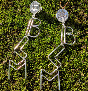 #BLM Sterling Silver Dangle Earrings