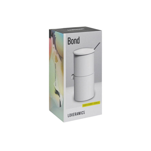 BOND 90ml Set Azucarero, Cremero y Cuchara