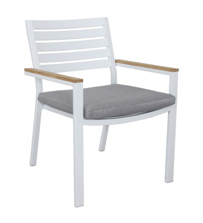CHAIRS CLAY WHITE/TEAK