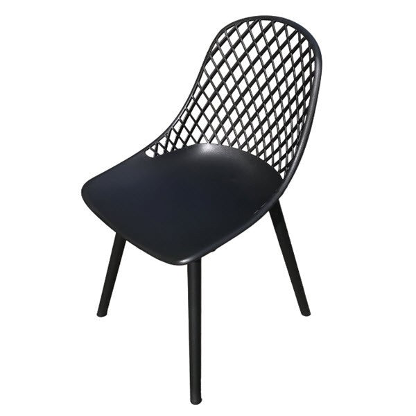 CHAIRS COSMO BLK RESIN