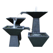 Cascade Square Bowl 3 Tier Fountain