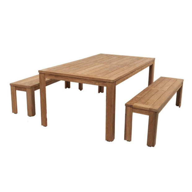 teak outdoor bench dining setting. Available at the Springs Garden world toowoomba