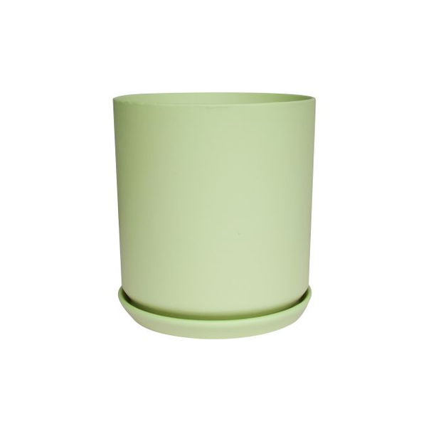 Cylindr Pot Matt Green