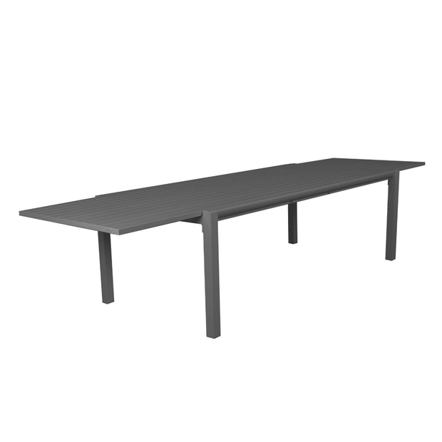 A durable extension table which can conveniently extend from 2.2 - 3. 4 meters